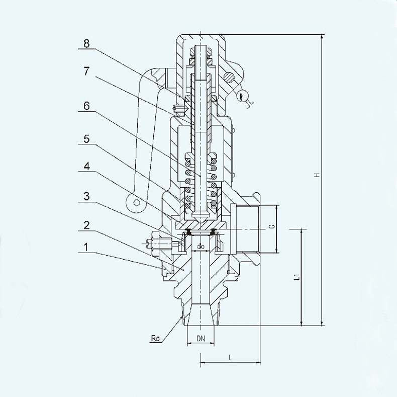 A27H A27W A27Y Screw-in type Spring loaded micro-opening safety valve 14