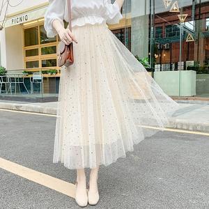 2019新款时尚星星亮片网纱裙