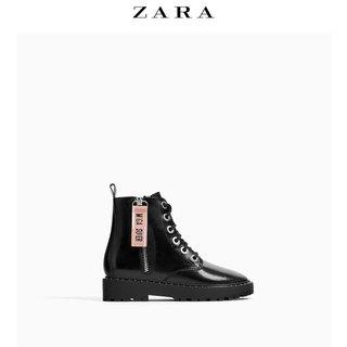 Сапоги,  ZARA ребенок обувь женщина 2018 боковые молнии заклепка украшения ботинки 13108303040, цена 2291 руб