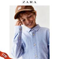 【скидка】ZARA осенняя одежда детское на мальчика основной стиль Оксфорд сорочка 07545760406