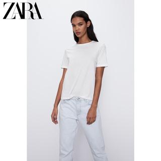Майки, топы,  ZARA новый  TRF женщины хлопок основные  T футболки  00962018251, цена 676 руб
