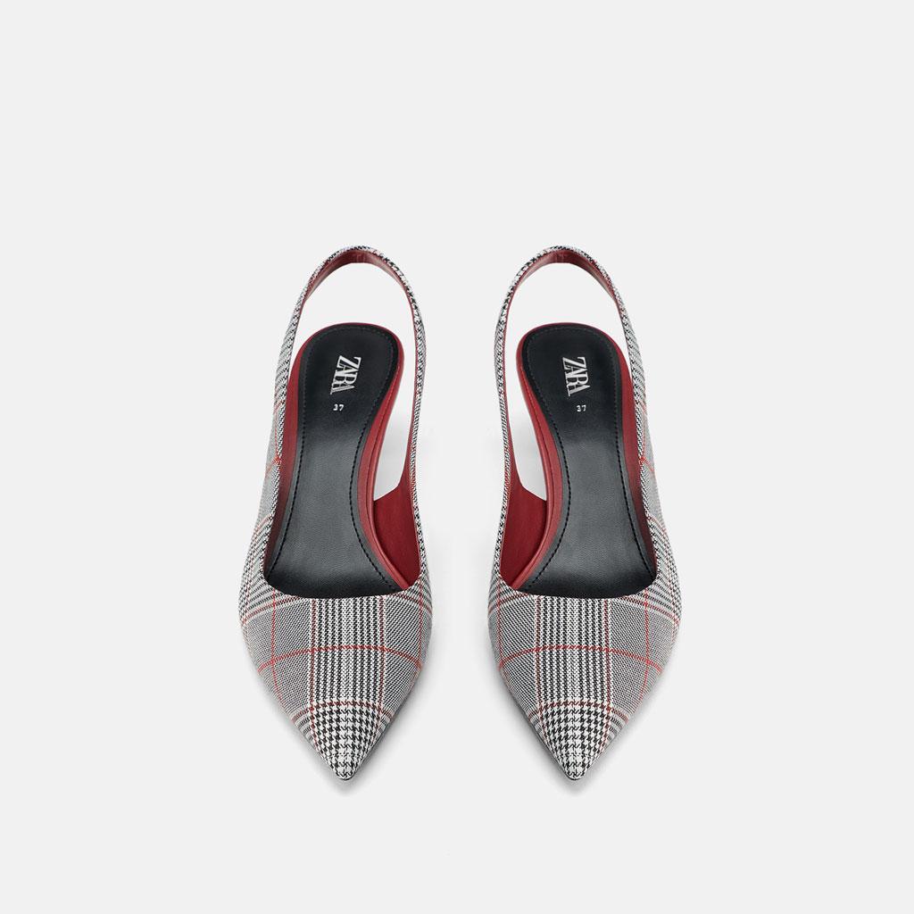 New Zara Bout Pointu C4alq5j3rs Importé Sandales Femme Chaussure Vichy ZkXPiu
