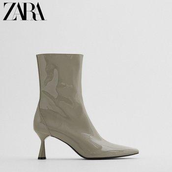 Сапоги, полусапожки,  ZARA новый  TRF обувь женская зеленый наконечник слой краски на высоком кабгалстук-бабочкае модное платье ботинки  13128610030, цена 5555 руб
