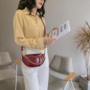 【2021新款】时尚链条单肩斜腰包