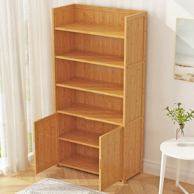 Book shelf shelf floor children's simple book cabinet table student small bookshelf desk simple living room solid wood