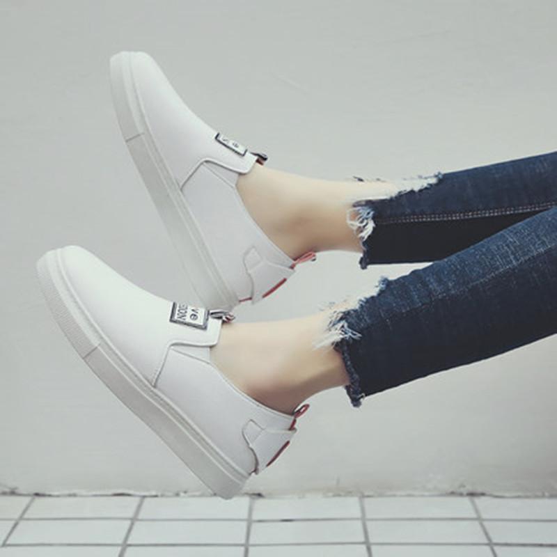 2018春季新款百搭平底小白鞋一脚蹬板鞋学生韩版懒人鞋女鞋乐福鞋