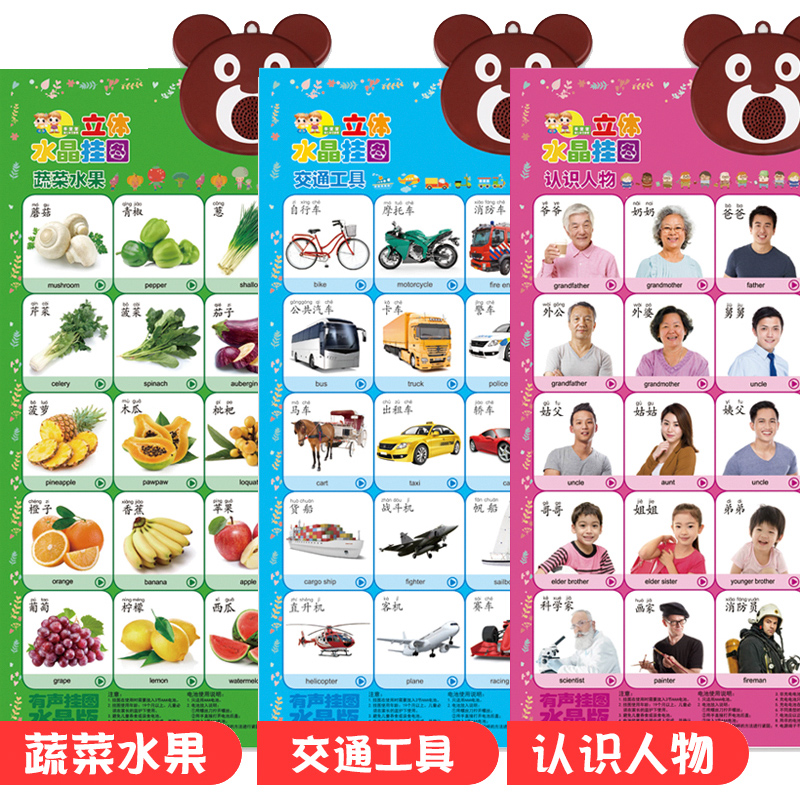 3 Sheets - Vegetables And Fruits - Transportation - Characters