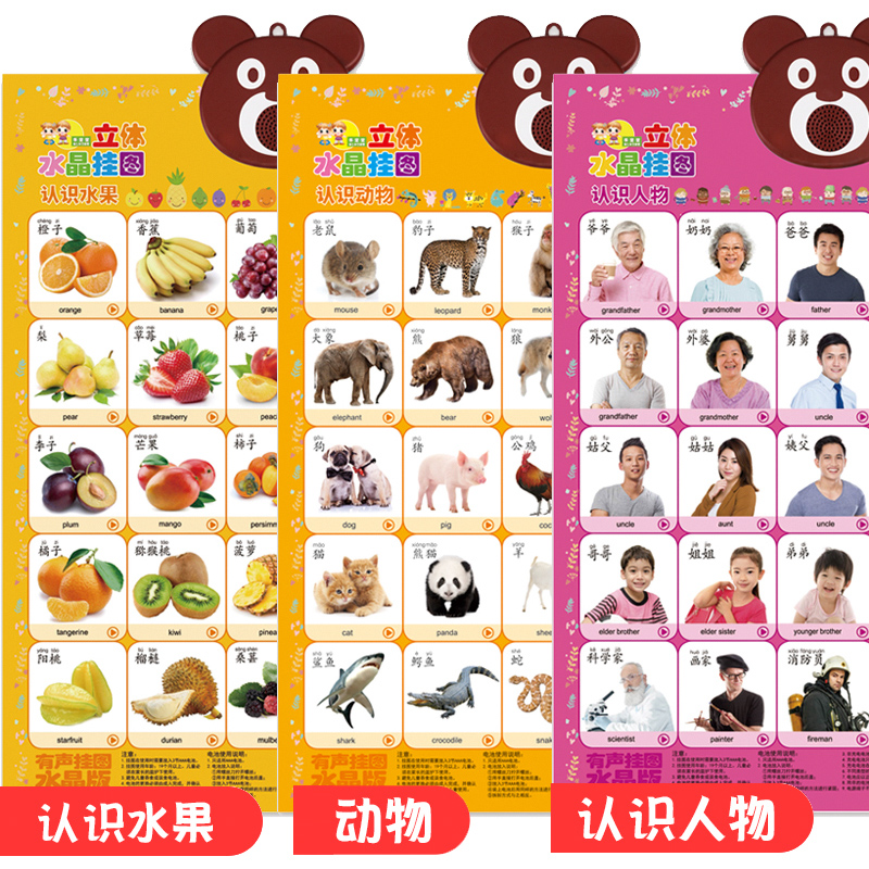 3 Sheets - Fruit - Animal World - Characters