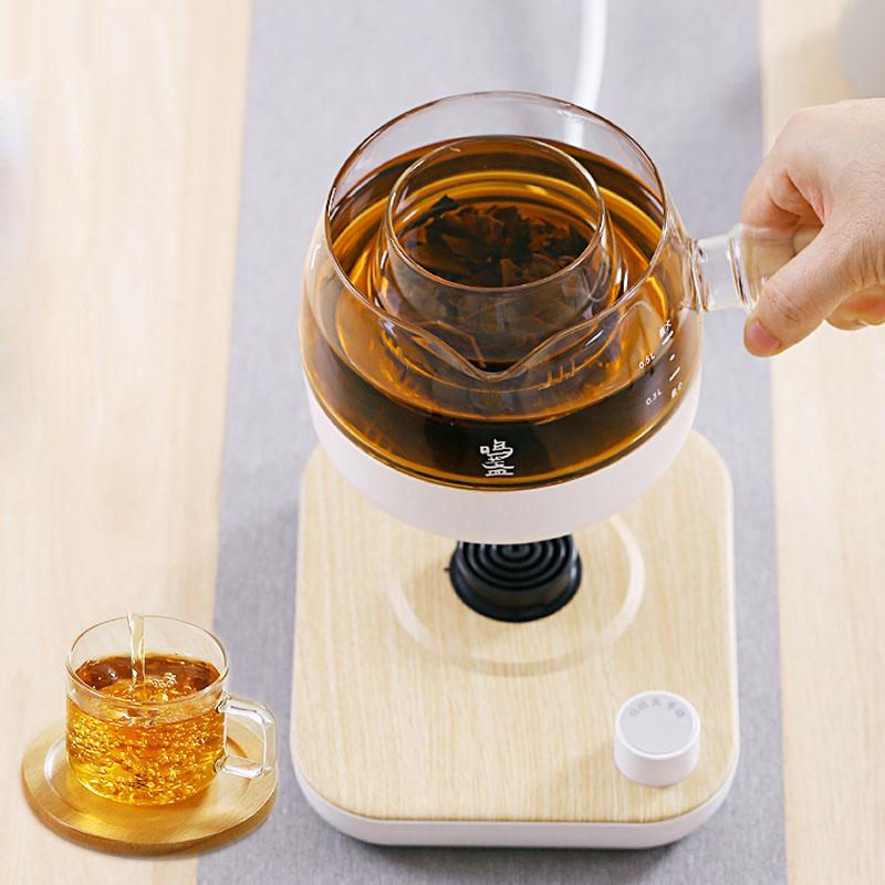 鸣盏煮茶器玻璃养生壶全自动家用电煮花茶壶小型黑茶多功能茶饮机