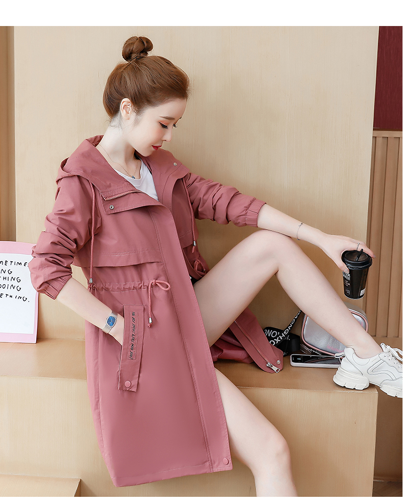 2020 Spring and Autumn new Korean version of the long-term waist fashion casual small man a hundred and Eight months windcoat jacket girl 55 Online shopping Bangladesh