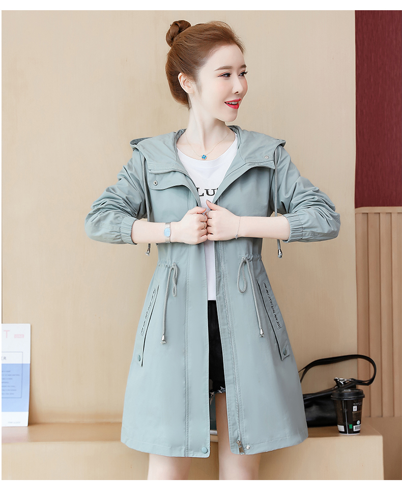 2020 Spring and Autumn new Korean version of the long-term waist fashion casual small man a hundred and Eight months windcoat jacket girl 61 Online shopping Bangladesh