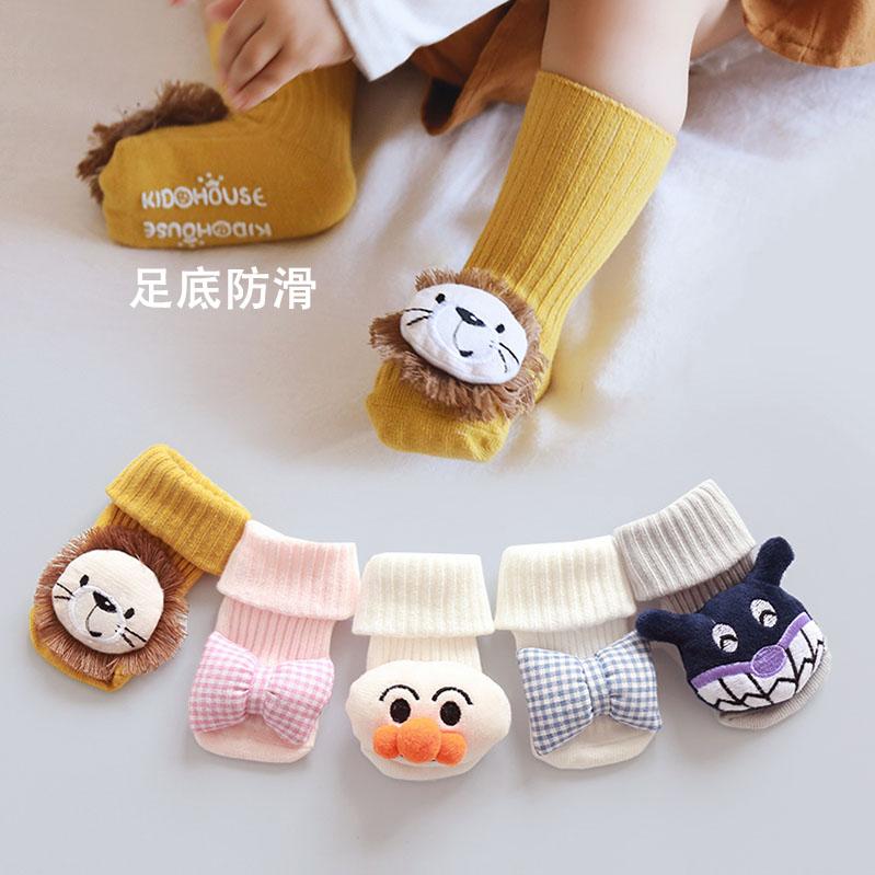 婴儿袜子秋冬款纯棉防滑地板袜