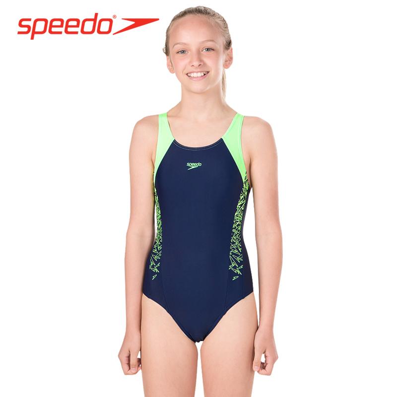 eba2402b5289b Speedo children's swimwear girls 6-14 years old girls swimwear big children  comfortable professional training