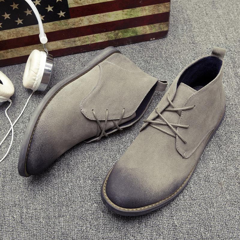 新款切尔西靴男士青年马丁靴子英伦男短靴-给呗网