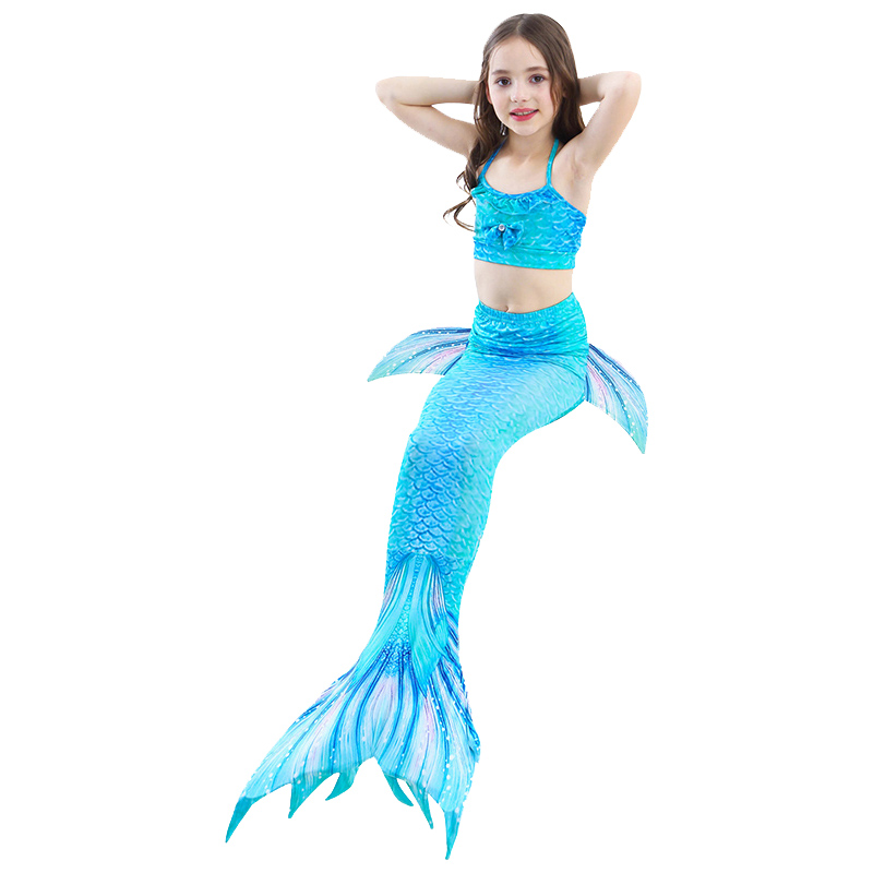 2018 Mermaid Swimsuit Split Childrens Swimsuit Three-piece Girls Can Swim Swimwear Europe And America Bikini Can Add Ankle To Have A Long Historical Standing Mother & Kids