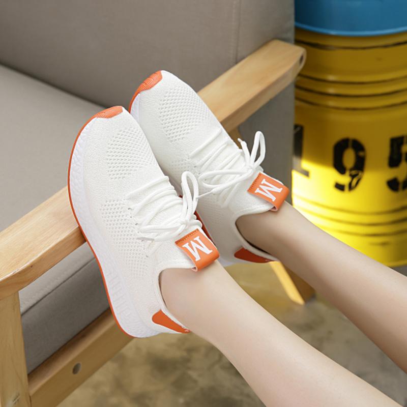 2020春季新款椰子鞋女柔软运动鞋女韩版百搭学生拼色飞织女鞋
