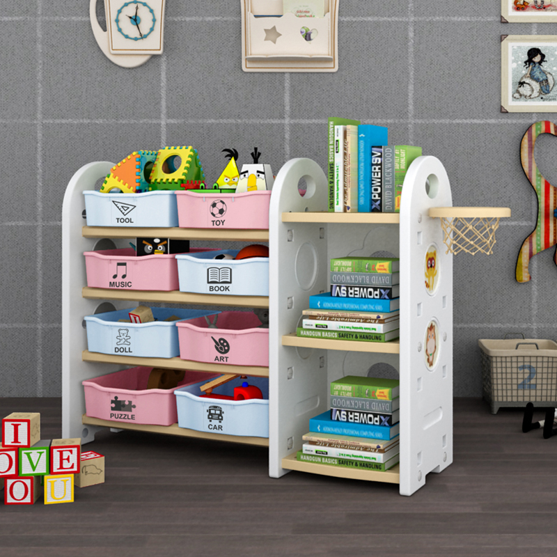 Childrenu0027s Toy Storage Rack Baby Picture Book Bookshelf Cartoon Finishing Toys  Storage Cabinet Shelf Shelves Multilayer