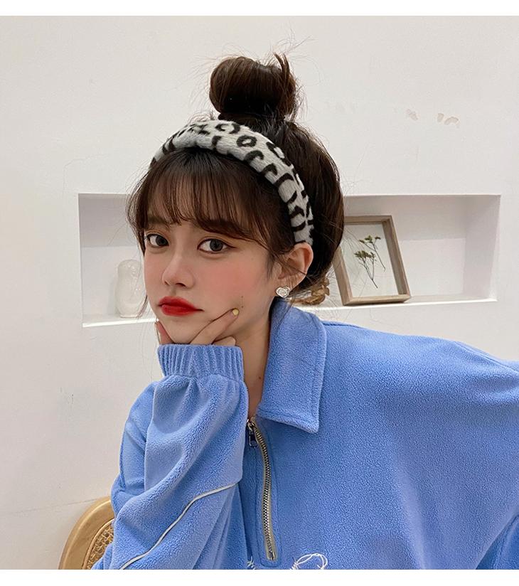 Korean new fashion  leopard print retro leopard print headband  NHCQ269780