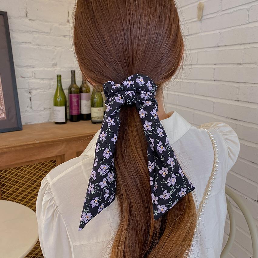 Korean floral streamer bow head rope NHCQ339201