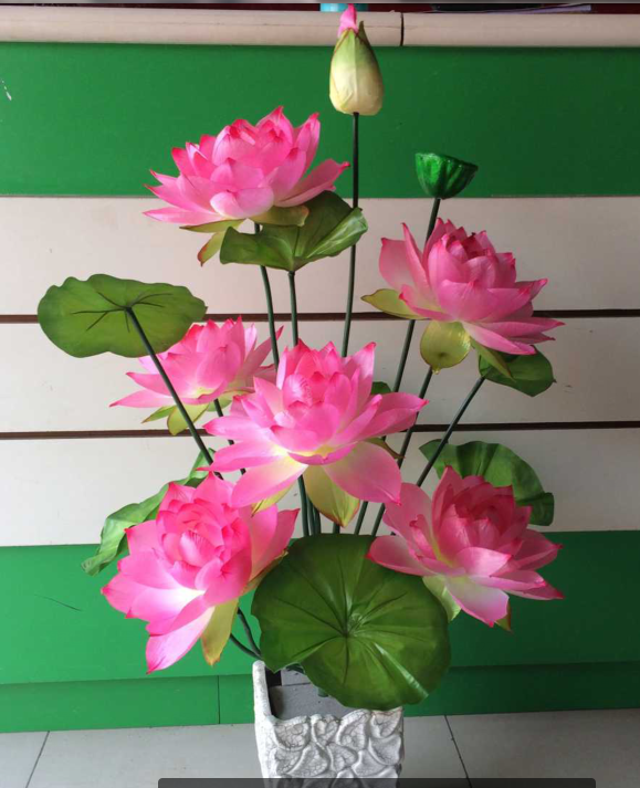 Hoa giả mô phỏng hoa sen lớn hoa lily nước hoa sen khô hoa sàn hoa cho Đức Phật đặt hoa - Hoa nhân tạo / Cây / Trái cây