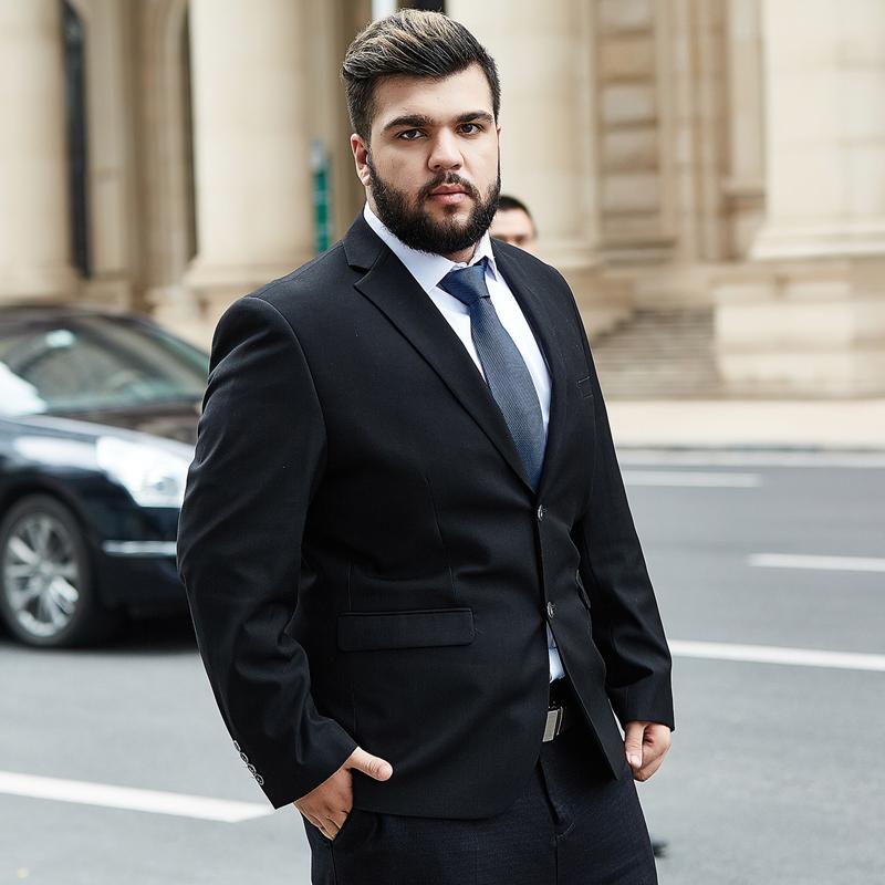 Usd 236 45 Suit Suit Male Plus Size Plus Fat Interview Suit Fat