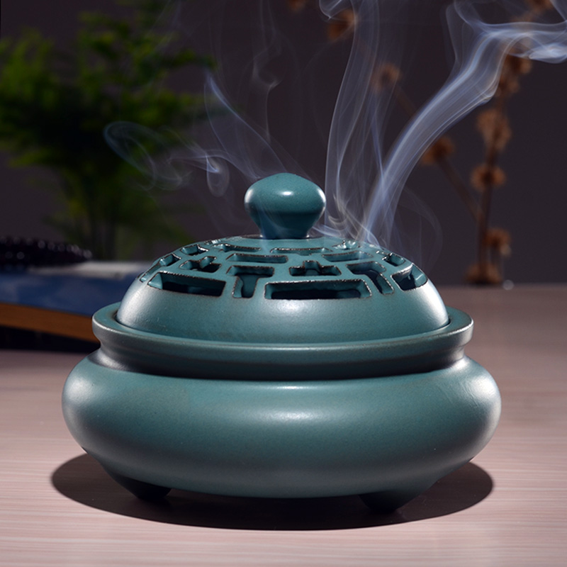 Incense burner home indoor lotus incense burner incense burner antique  large sandalwood furnace incense line incense agarwood ceramic incense  burner