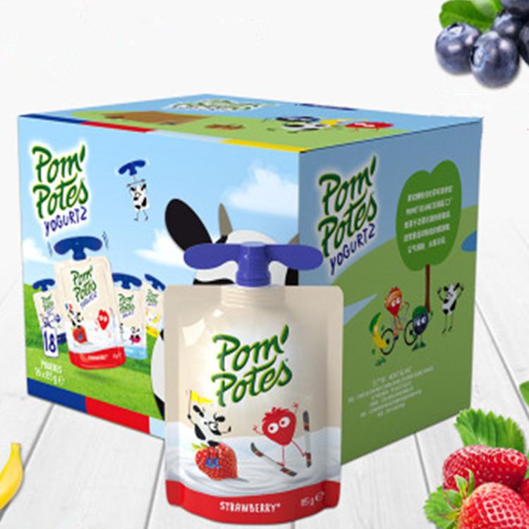 法国原装进口 法优乐儿童酸奶宝宝乳酸菌牛奶无添加零食85g*18袋