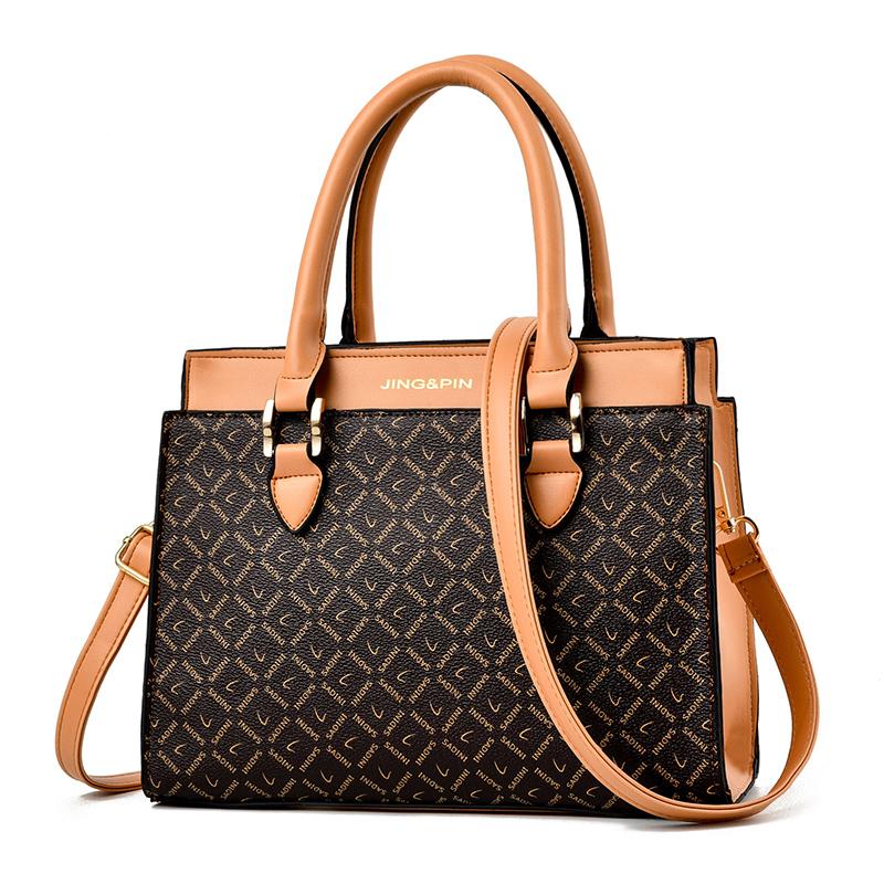 手提包春女包2021新款复古女士包包2020大容量斜挎包妈妈包单肩包