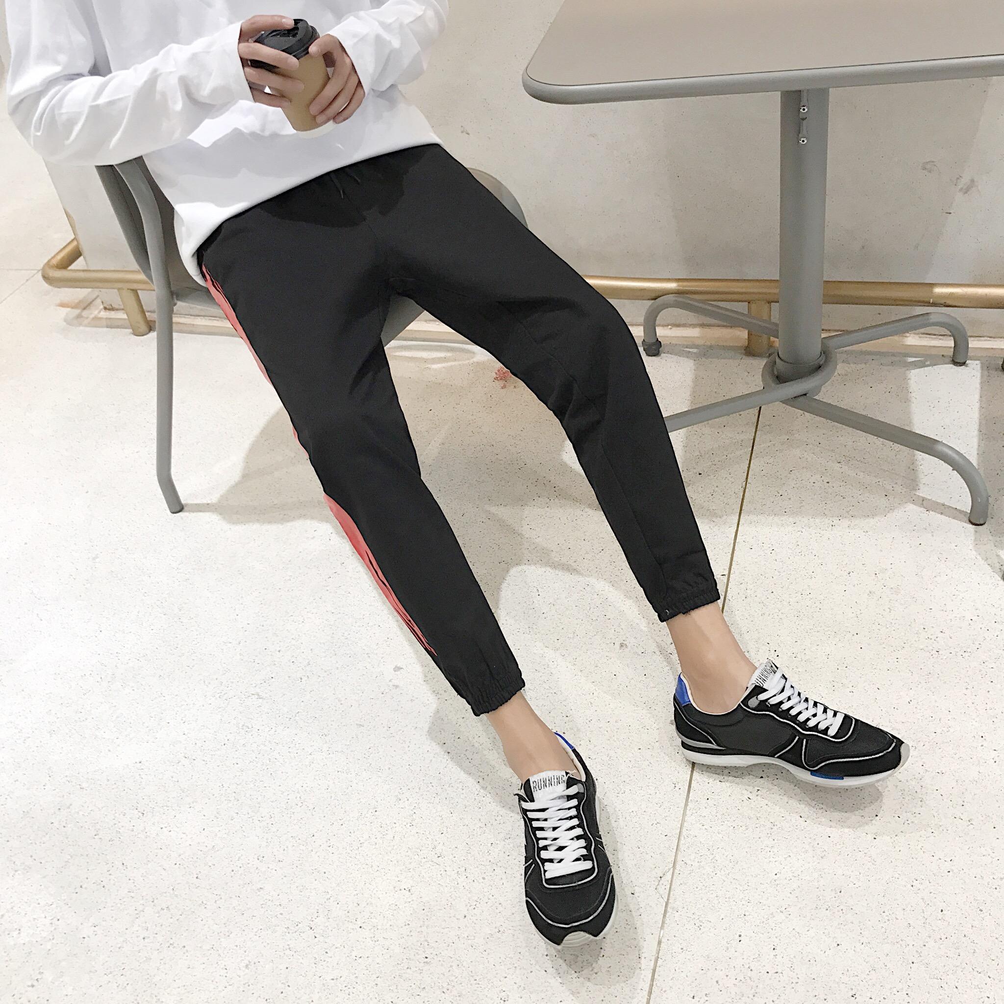 Mới chín điểm quần âu người đàn ông Hàn Quốc phiên bản của xu hướng thể thao quần lỏng chân hoang dã sinh viên cá tính quần harem