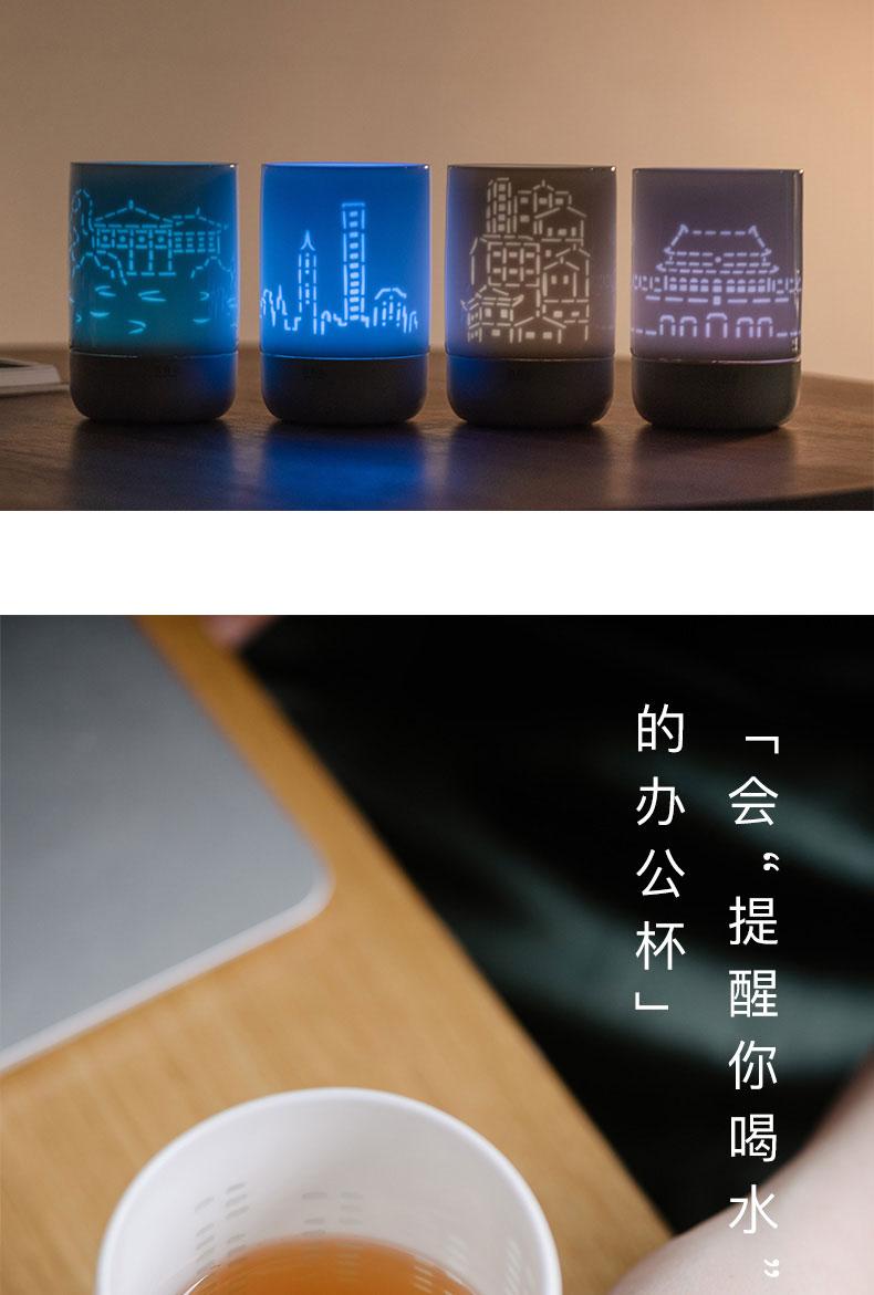 Beautiful jade BaiLingLong jingdezhen smart glass practical water cup and exquisite custom taoyuan city cup