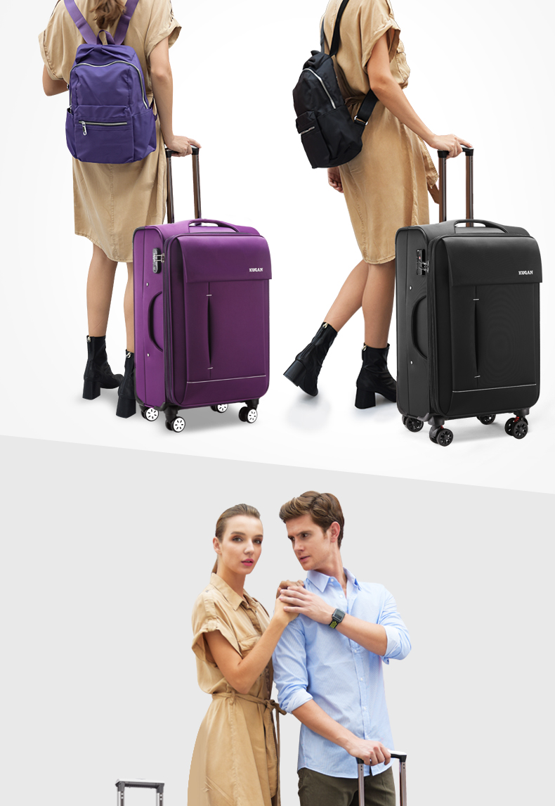酷感牛津布拉杆箱万向轮行李箱男学生旅行箱包密码箱女寸皮箱子详细照片