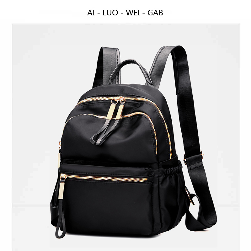 8d0b83e7b2d8 2018 new nylon Oxford cloth backpack female Korean version of the tide  fashion wild backpack college wind student bag