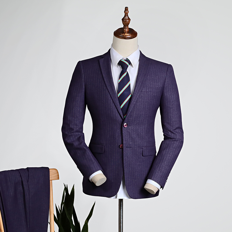 Purple Pinstripe/blue [tops + Trousers]