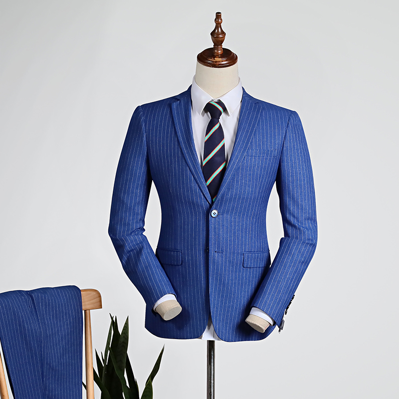 Fashion Blue Stripes [shirt + Trousers]