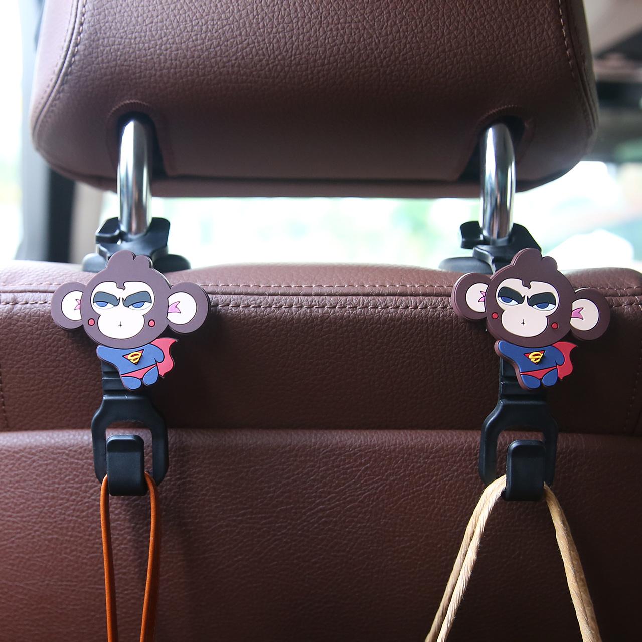 卡里努努椅背多功能车载卡通汽车挂钩车用靠背车内座椅置物钩用品