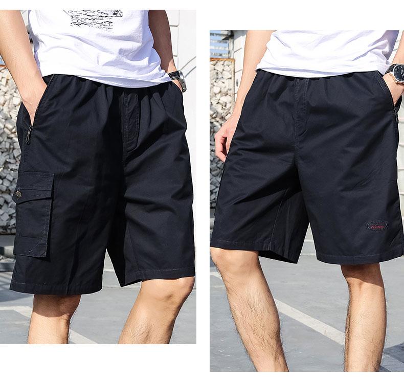 Mùa hè người đàn ông trung niên của cha mặc quần short cotton lỏng 40 tuổi 50 trung niên thường năm quần quần mặc 衩