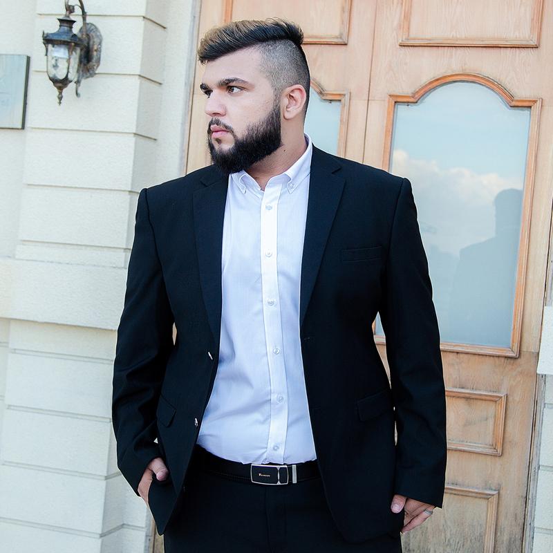Usd 158 77 Suit Suit Male Dress Plus Size Plus Fat Interview Suit