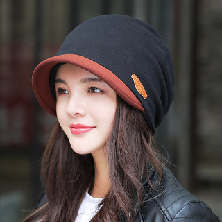 Hat women's autumn/winter spring hooded hat Korean style trendy belted hat riding fashion all-match Baotou cap postpartum confinement cap