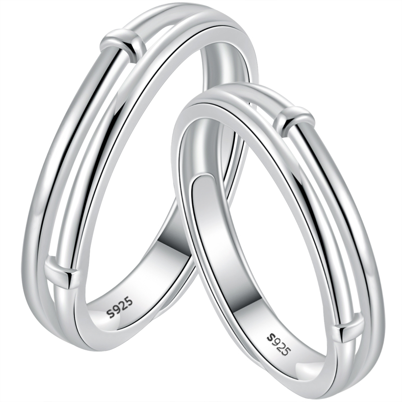 ce720ad15a ARAI original design couple ring 925 sterling silver jewelry pair of men  and women simple wedding ...