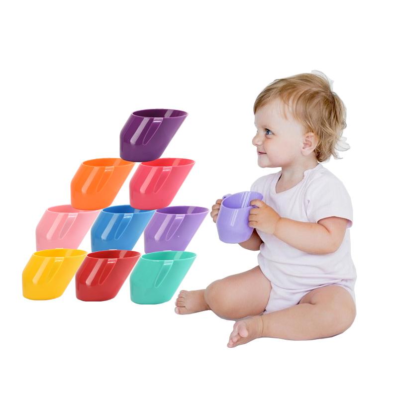 婴儿宝宝学饮杯斜口杯喝水训练杯漱口杯幼儿园口杯牛奶杯儿童水杯