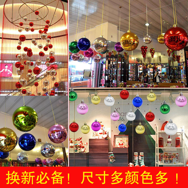 christmas decorations hanging ball light glitter large ball holiday decoration ceiling ceiling pendant decoration supplies - Wholesale Large Christmas Decorations
