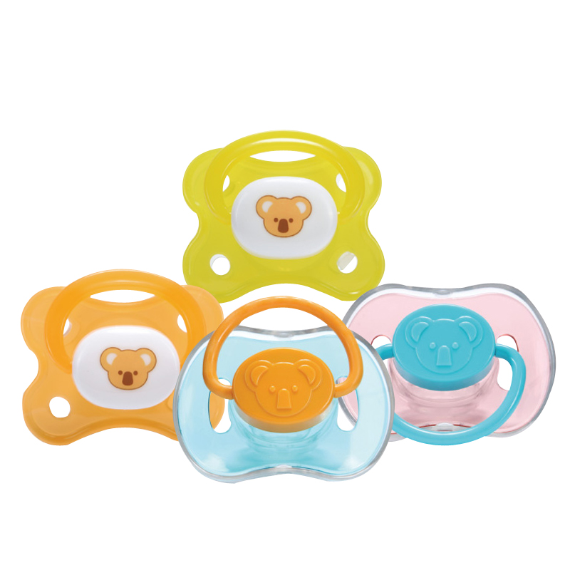 Hido pacifier with dust-proof cover baby sleeping round-headed thumb nipple simulation breast milk real sense universal