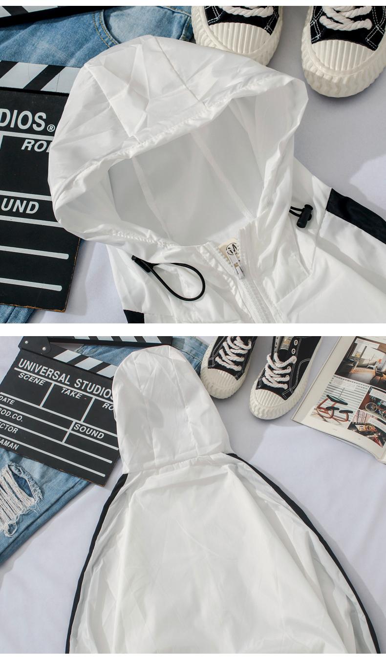 Sun bảo vệ quần áo nam của Hàn Quốc phiên bản của xu hướng mỏng và thoáng khí quần áo da nữ 2018 mùa hè mới ngoài trời trùm đầu áo gió