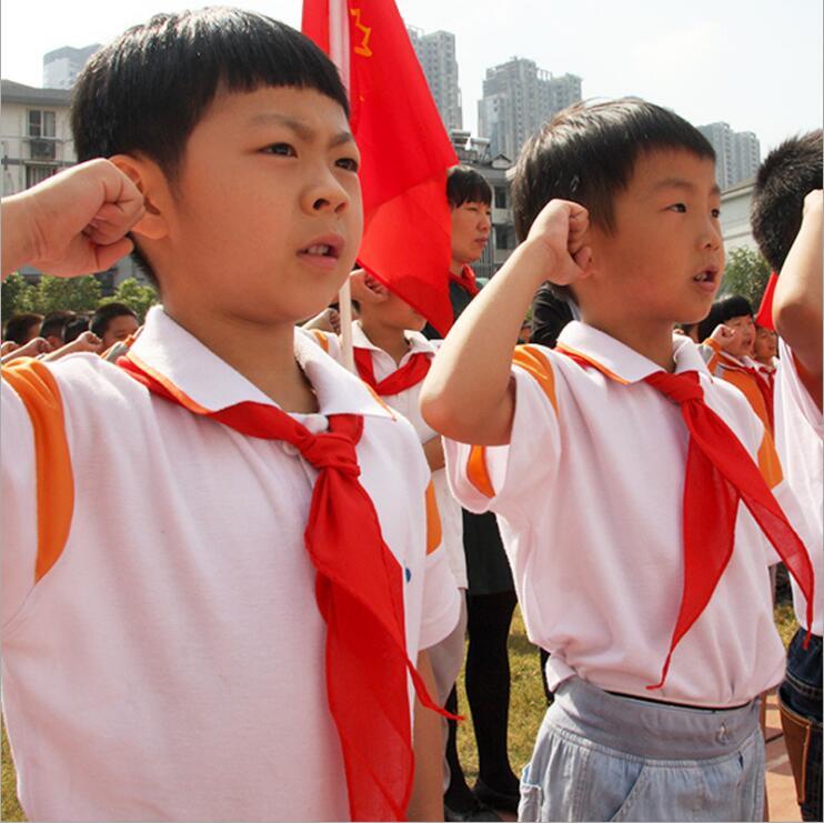 纯棉红领巾小学生红领巾少先队员红领巾红领巾红领巾领红巾
