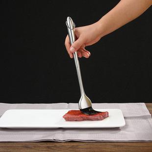 Нержавеющей стали обрабатывать барбекю щетка масло щетка удлинять масло щетка пищевого силиконовый щетка выпекать поезд выход барбекю инструмент