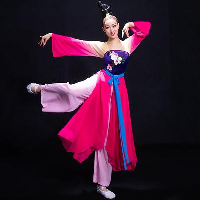 Chinese Folk Dance Costumes Classical Dance Costume Fairy Watersleeve Chinese Style Modern Dance Costume Fan Umbrella Dance Adult