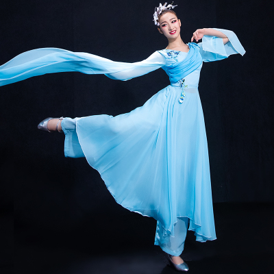 Chinese Folk Dance Costumes Watersleeve Dance Dress Classical Dance Costume Chinese Wind Fairy Modern Dance Costume Adults