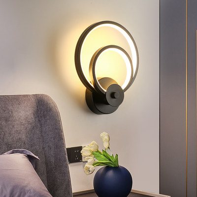 Bedside lamp wall lamp simple modern bedroom lamp creative personality aisle corridor living room background wall Nordic lamps