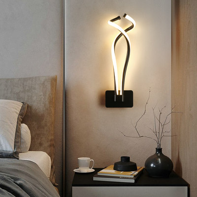 Light luxury wall lamp modern minimalist designer model room lamps and lanterns living room wall lamp porch lamp Nordic bedroom bedside lamp