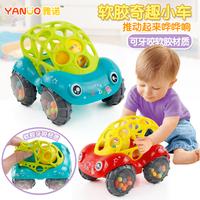 Мягкий погремушка машину 6-12 месяцы младенец младенец головоломка ребенок 0-1-3 лет сцепление мяч может укусить игрушка